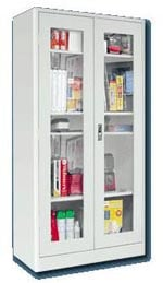 See Through Storage Cabinet with Radius Edges
