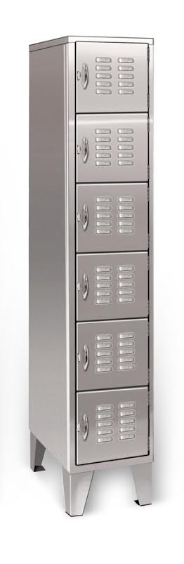 silver bullet 6 tier stainless locker with legs