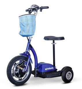 sit stand scooter blue