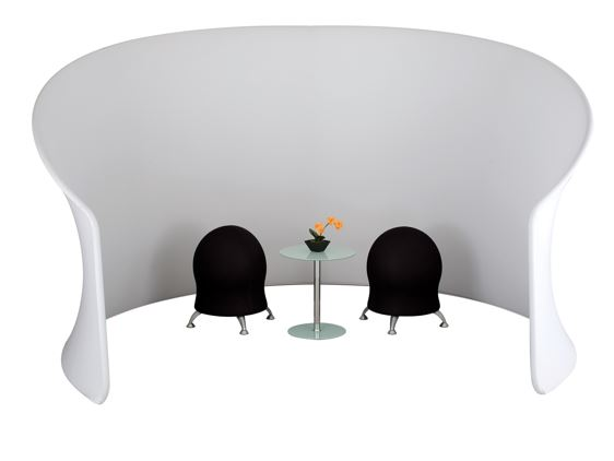 space divider with chairs