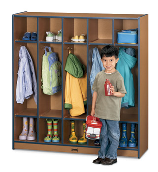 Environmentally Friendly Five Section Child Lockers