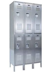 Economy Double Tier Stainless Steel Lockers
