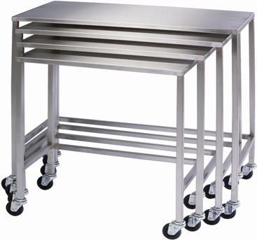 Stacking Mobile Stainless Steel Work Benches