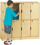 Eight Opening Double Stack Mini Wood Lockers