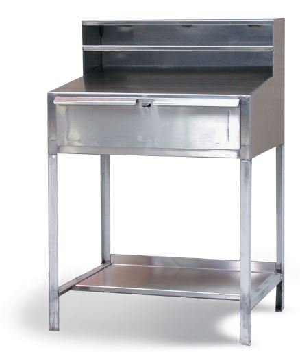 stainless steel shop desk
