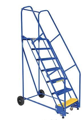 steel rolling warehouse ladders