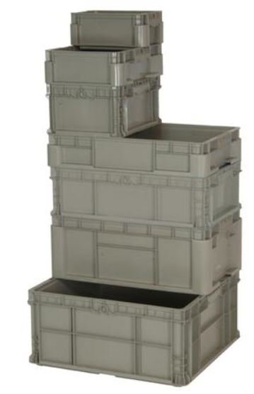 straight wall stacking container