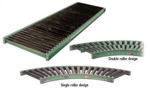 structural heavy duty roller conveyors with 7 ga rollers