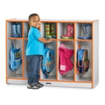 Toddler Coat Locker With Colored Edgebanding