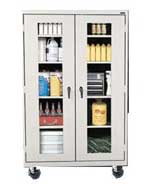 See Through Mobile Storage Cabinets