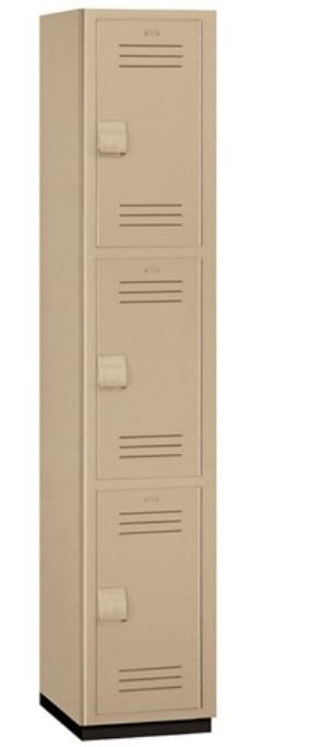 triple tier heavy duty plastic lockers