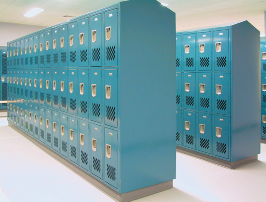 triple tier metal gym lockers
