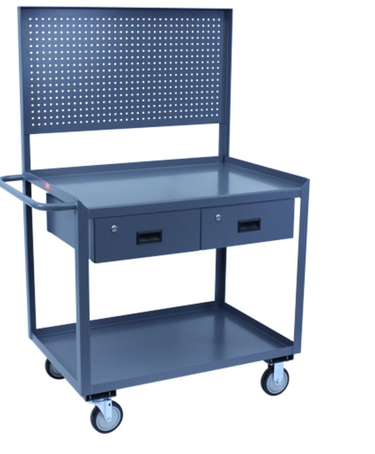 utility cart with pegboard