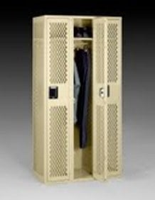 Assembled Single Tier Ventilated Steel Locker Without Legs