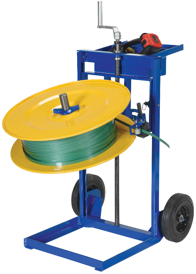vertical and horizontal strapping cart