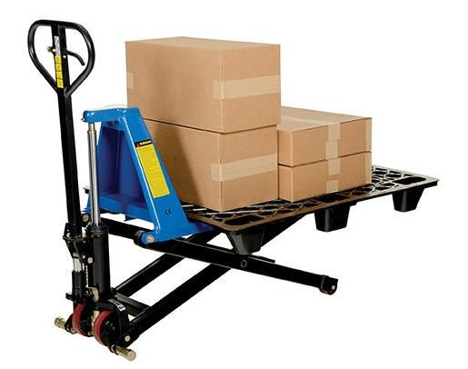 vestil tote lifter with platform