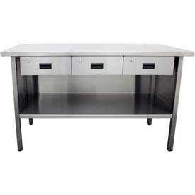 Three Drawer Enclosed Stainless Steel Work Bench