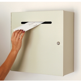 wall mounted drop mail box