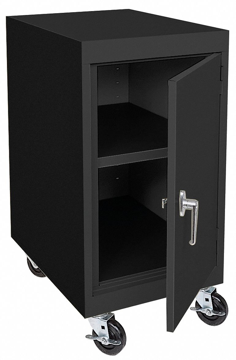work height mobile storage cabinet